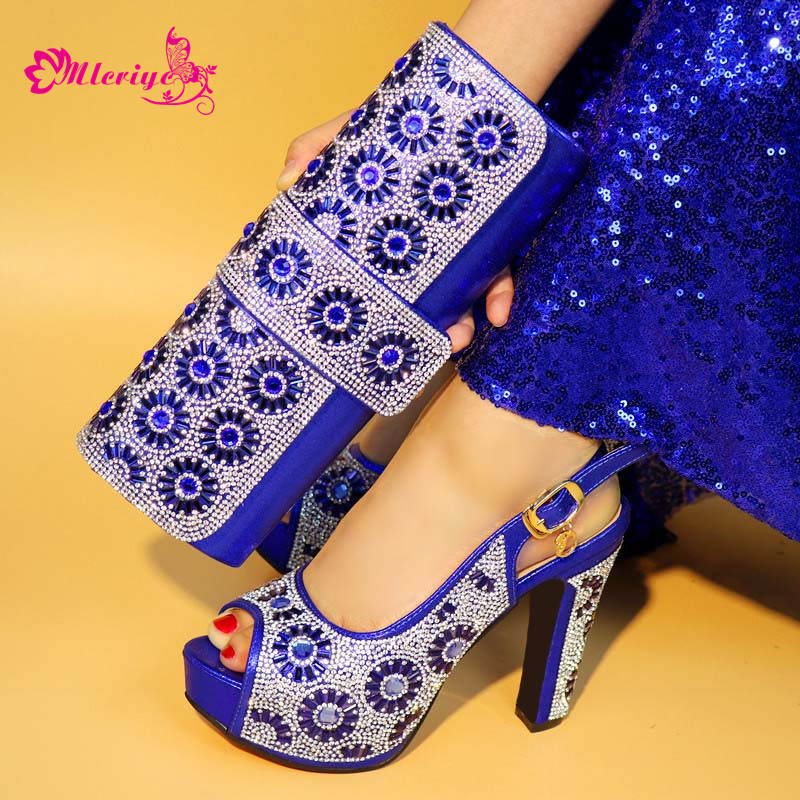 New Arrival Italian Shoes with Matching Bags for Wedding Italy Nigerian Women Wedding Shoe and Bag Set Decorated with RhinestoneNew Arrival Italian Shoes with Matching Bags for Wedding Italy Nigerian Women Wedding Shoe and Bag Set Decorated with Rhinestone
