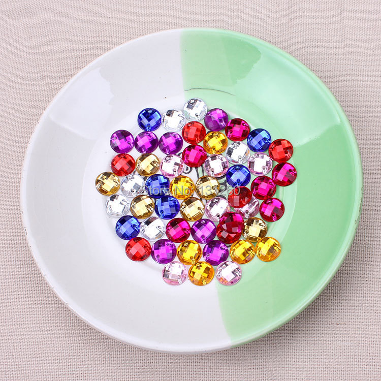 100pcs lot 8mm red blue white colorful Sew On Stone Flatback Crystal Clear Color Sewing On Crystal 2 Holes For Dress