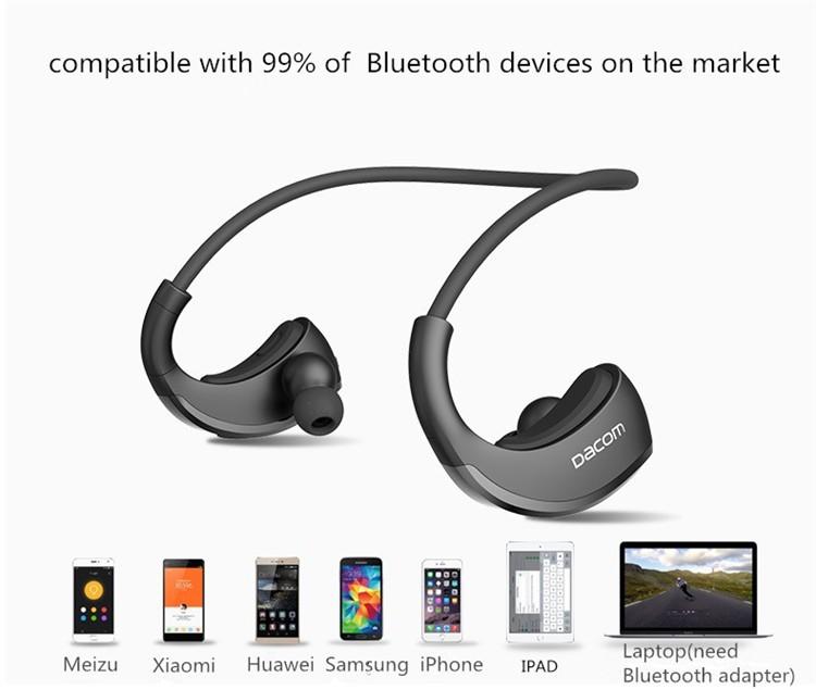 Dacom Armor Bluetooth V4.1 Stereo Headphones IPX5 Waterproof Wireless Outdoor Sports Headset Handsfree Music Earphone With Mic(8)