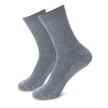 Plus Große Große Größe 48,49, 50,51, 52,53 Casual Männer Winter Socken EU 39 44 Herren Kleid Socken 6 Pairs Solide Baumwolle Business Crew Socken