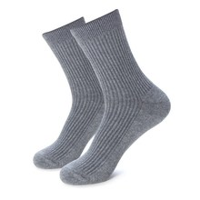 Plus Large Big Size 48,49,50,51,52,53 Casual Men Winter Socks EU 39 44 Mens Dress Socks 6 Pairs Solid Cotton Business Crew Socks