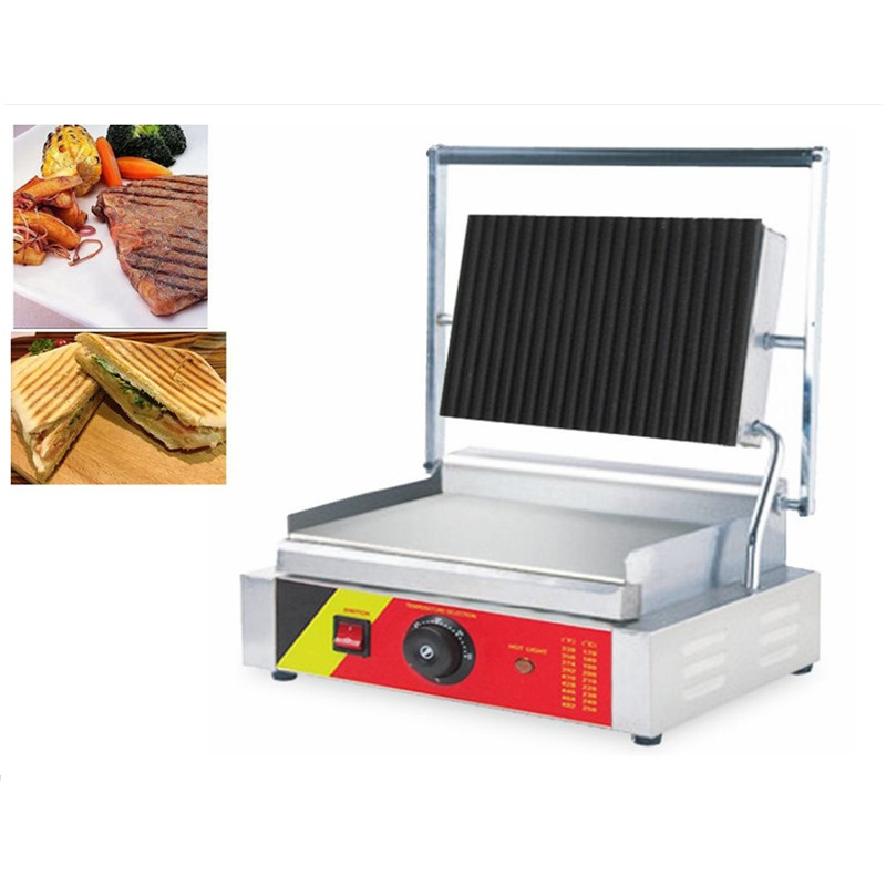 Commercial Electric Sandwich Machine Stainless Steel Beef Steak Grill Plate Pan Non-stick High Quality Commercial Electric Grill стоимость