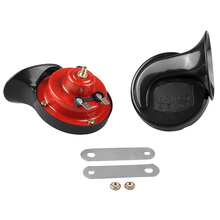 2PCS Universal Loud Dual-tone Snail Horn Electric Air for Car Truck Siren on Special Signals Styling Red
