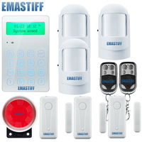 Free Shipping IOS Android App Control 10 Wireless Zones Home Security Gsm Alarm System With Touch