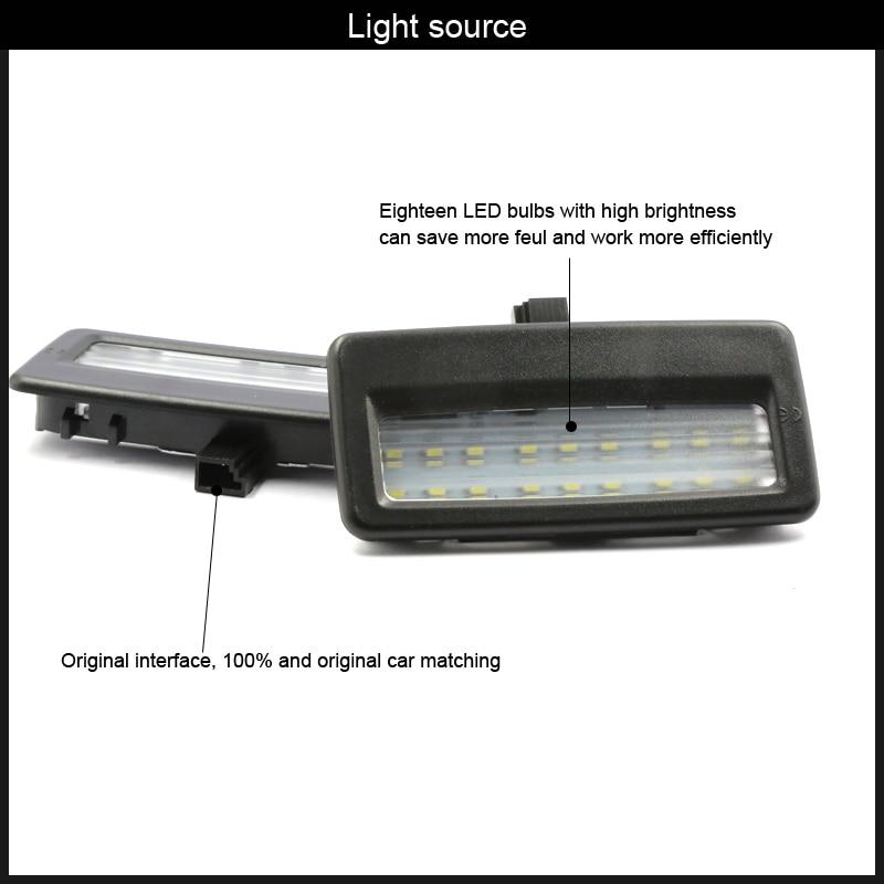 2pcs Error Free LED SMD vanity mirror visor light For Bmw F10 F11 F07 F01 F02 F03