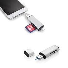 Sd 3-в-1 USB C адаптер мужской порт + USB 2.0 Мужской Порт + Micro USB поддержку порта Micro SD/SDHC/TF Card Reader QJY99
