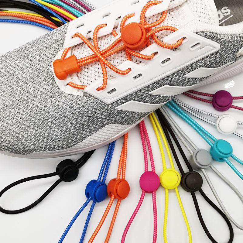 Lock Elastic ShoeLace 22 Colors A Pair Of Locking Shoe Laces Elastic Sneaker Shoelaces Shoestrings Running/Jogging/Triathlon