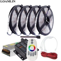 5050SMD RGB Led Strip 30Leds/m Flexible Light TQ Music 2 RF Remote RGB Led Controller DC12V Led Transformer Adapter Kit