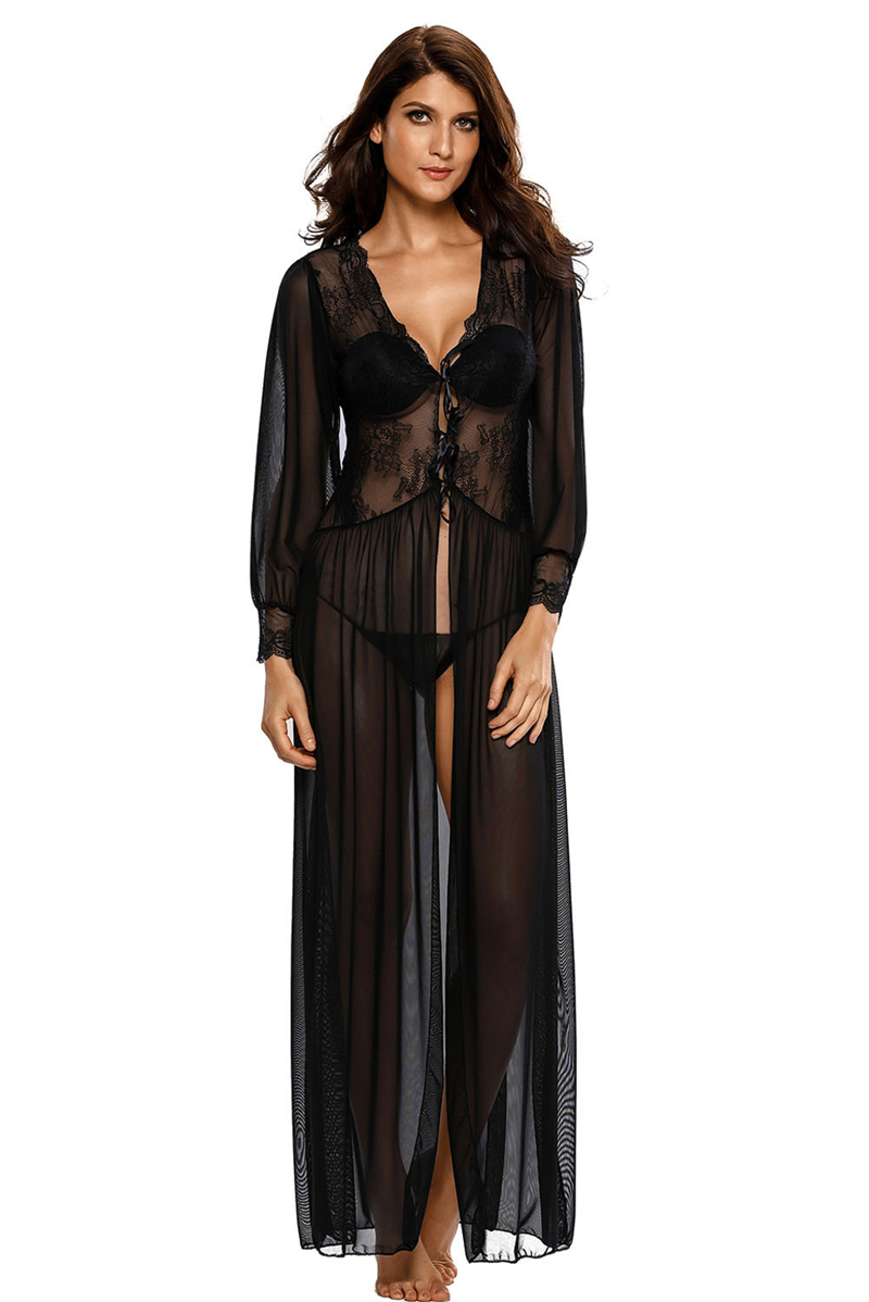 Sheer-Long-Sleeve-Lace-Robe-with-Thong-LC31037-2-6