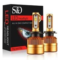 2Pcs H4 LED H7 LED Car Headlight Bulbs LED Lamp With Philips Chip 8000LM Auto Fog