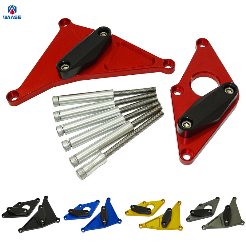 waase SV650 Motorcycle Left & Right Engine Crash Pads Frame Sliders Protector For <font><b>Suzuki</b></font> <font><b>SV</b></font> <font><b>650</b></font> 2016 2017 <font><b>2018</b></font> image