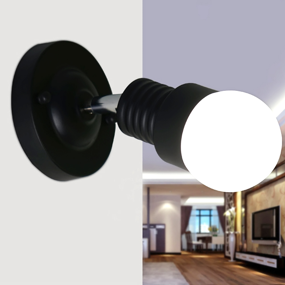 modern ac 100 240v wall sconces lamp minimalist aisle bed balcony cafe home mini wall light decoration light black white in wall lamps from lights - Minimalist Cafe 2016