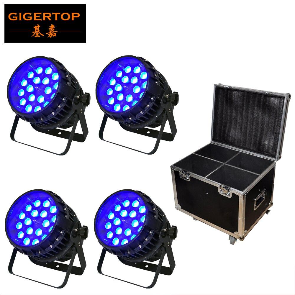 4IN1 Flightcase Pack 18 12W Power Par Can Light DJ Sound System Waterproof Zoom Tyanshine Led