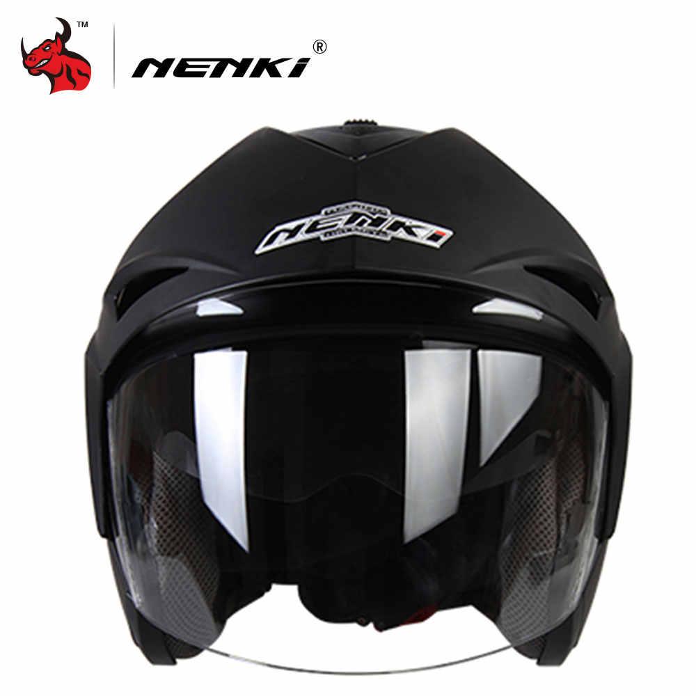 680ddfa3 ... NENKI Motorcycle Helmet Flip Up Moto Helmet With Inner Sun Visor  Capacete De Moto Open Face ...