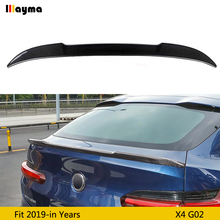 CS Style Carbon fiber Rear Trunks Spoiler For BMW X4 G02 25i 30i xDrive 2019 year CF styling rear trunk wing