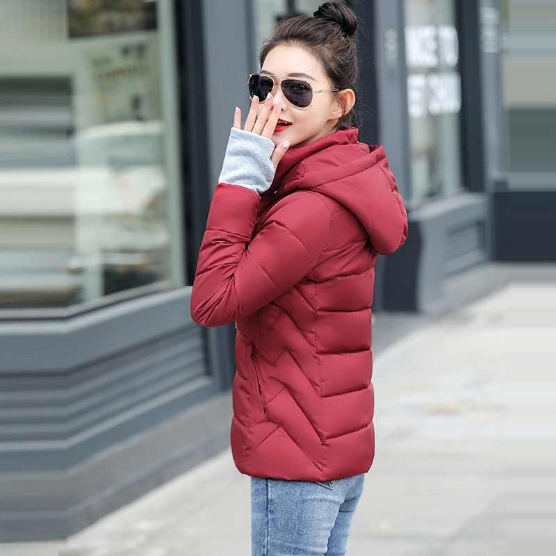 2019 Winter Jas vrouwen Plus Size S-5XL Womens Parka Thicken Bovenkleding hooded Winter Jas Vrouwelijke Jas Parka warme basic tops