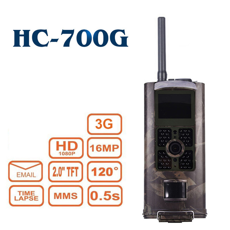 HC700G chasse caméra Trail Vision nocturne sauvage 3G GPRS MMS SMS 16MP 120 degrés infrarouge Camouflage faune Trail caméras piège