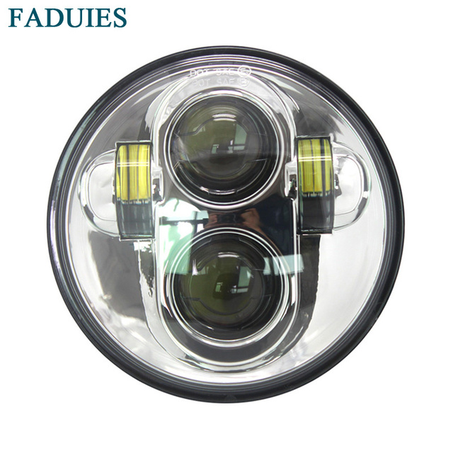 "FADUIES Free shipping Chrome 5-3/4"" 5.75inch Motorcycle LED Headlamp for Harley motorcycle led headlight"