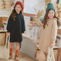 Brand New Girls Sweatshirt Dress 2019 Kids Winter Dress Plus Velvet Thickened Warm Baby Dress Casual Children Cotton Dress,#3663