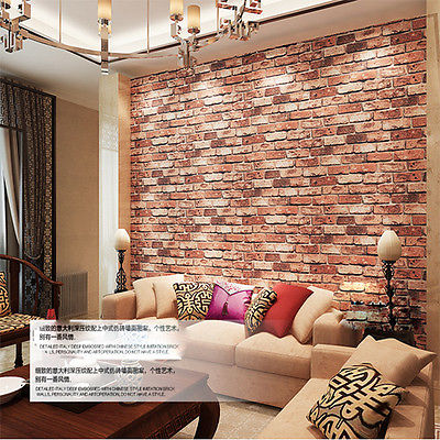 Q Qihang Red Brick Wall Wallpaper Embossed Textured Bricks Color 0 53m 10m 5 3m2 In Wallpapers From Home Improvement On Aliexpress Alibaba Group