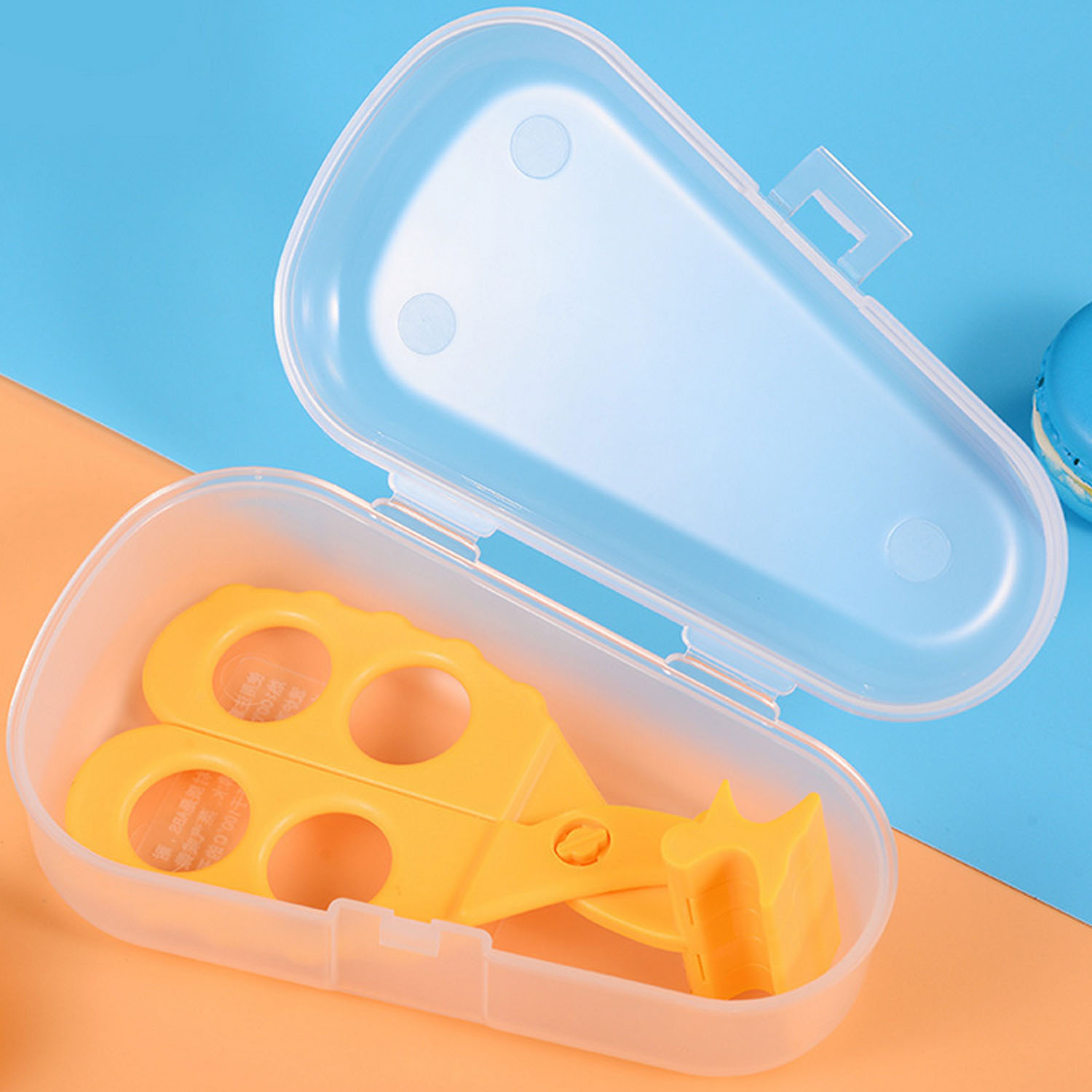 Professional Safe Portable Infant Feeding FoodS Crush Scissors Shears Cutter Masher With Storage Case Baby Care For Baby Feeding