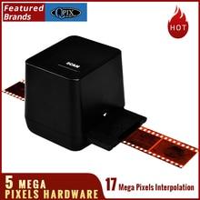 Free shipping,high resolution scanning and capture photographs film negatives/35mm slides/USB scanner,black color high resolution 35mm 135mm negative film