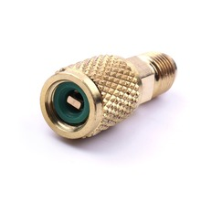 R12 R134a Adapter Refrigeration-Tool Charging-Hose Auto-Air-Conditioner Brass Male Fit-For