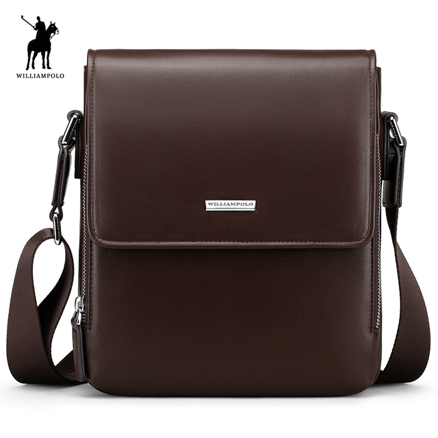 WILLIAMPOLO Waterproof Leather Briefcase