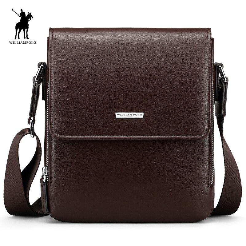 WILLIAMPOLO Nuovo Sacchetto Degli Uomini di Modo Impermeabile Borsa Messenger Bag In Pelle Casual Briefcase Crossbody Bag PL013D