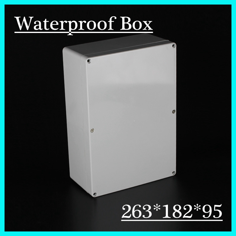 High Quality Waterproof Enclosure Plastic Electronic Project Box Case PlC Shell 263*182*95mm DIY Free Shipping 65 95 55mm waterproof case