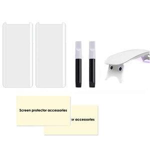 Image 3 - 삼성 S9Plus s10plus에 대 한 2pcs 화면 보호기 강화 유리 액체 전체 접착제 UV 빛 참고 10 플러스 S20 플러스 참고 20 울트라