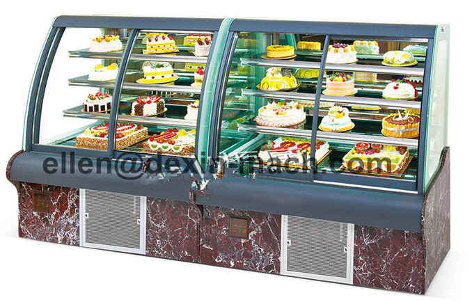 580l Cake Bread Showcase Display Refrigerator With Curved