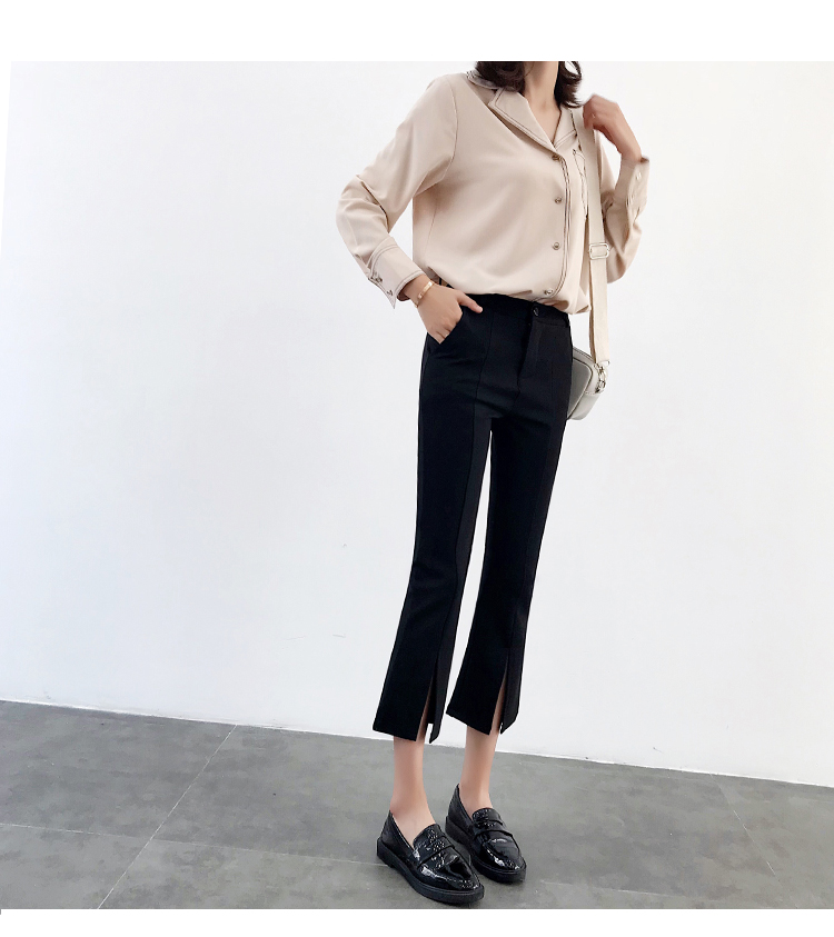 High-waisted Flare Pants Women 2018 Summer New Hot Fashion Female Casual Loose Ankle-length Pants Trousers Bottoms 12