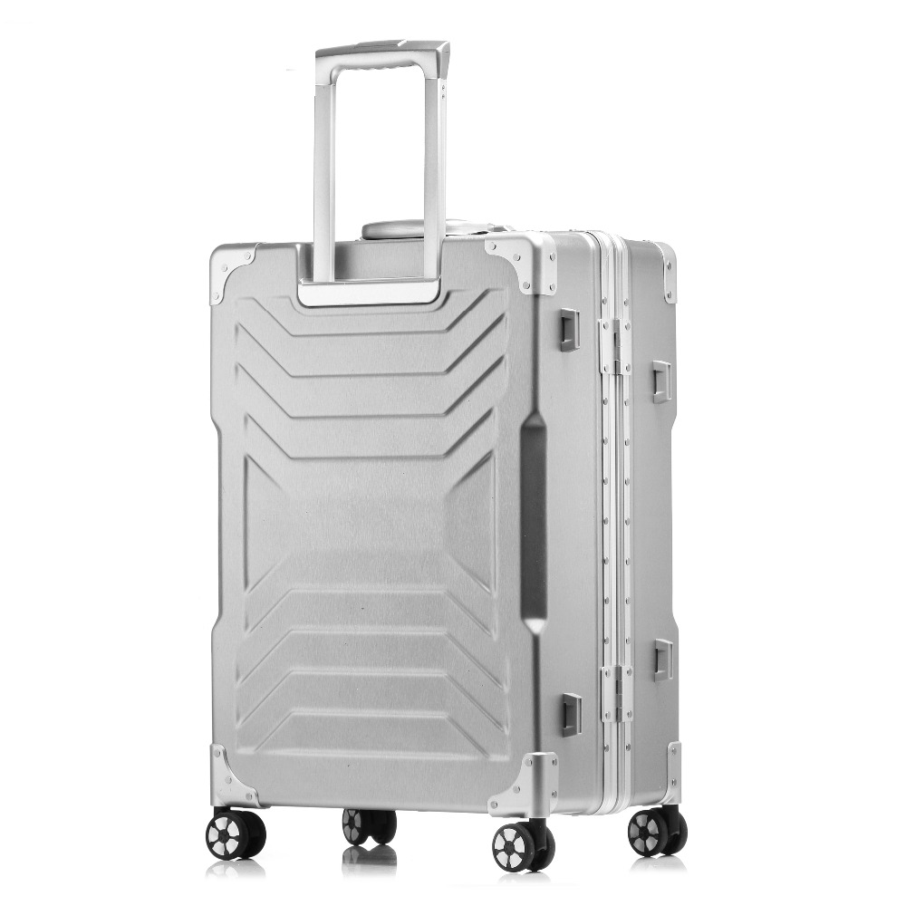 20''24''26''29Women Travel Luggage Aluminum&PC Suitcase Boarding Case rolling luggage Case Spinner Trolley Suitcase wheeled Case vintage suitcase 20 26 pu leather travel suitcase scratch resistant rolling luggage bags suitcase with tsa lock