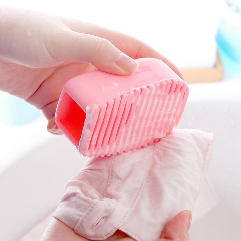 Cleaning Washing Flexible Scrub Silicone Brush Hand-held Mini Washboard Antiskid Household Cleaning Tool Kit