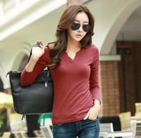 Selling High Quality Slim V Neck Long Sleeved T Shirt Women S Cotton T Shirt Was