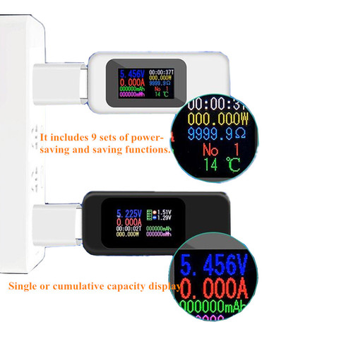 10 in 1 DC Digital voltmeter 4-30V USB Tester Mobile Battery Voltage Current Tester Meter Detector Power bank Charger  20%off Islamabad