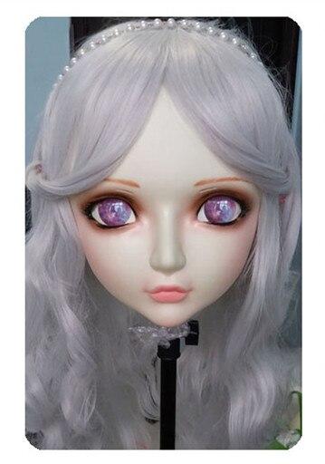 Kids Costumes & Accessories Women/girl Sweet Resin Half Head Kigurumi Bjd Mask Cosplay Japanese Anime Lifelike Lolita Mask Crossdressing Sex Doll gl026