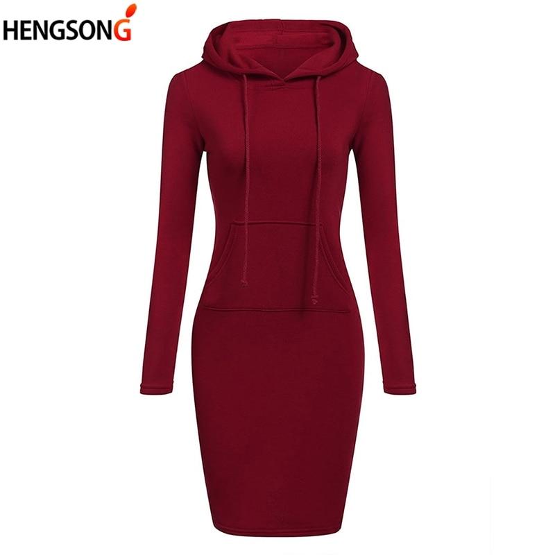 Casual Women Long Hoodies With Hat Slim Spring Autumn Women Hoodies 2018 Pullovers Sweatshirt With Front Pocket Hoody