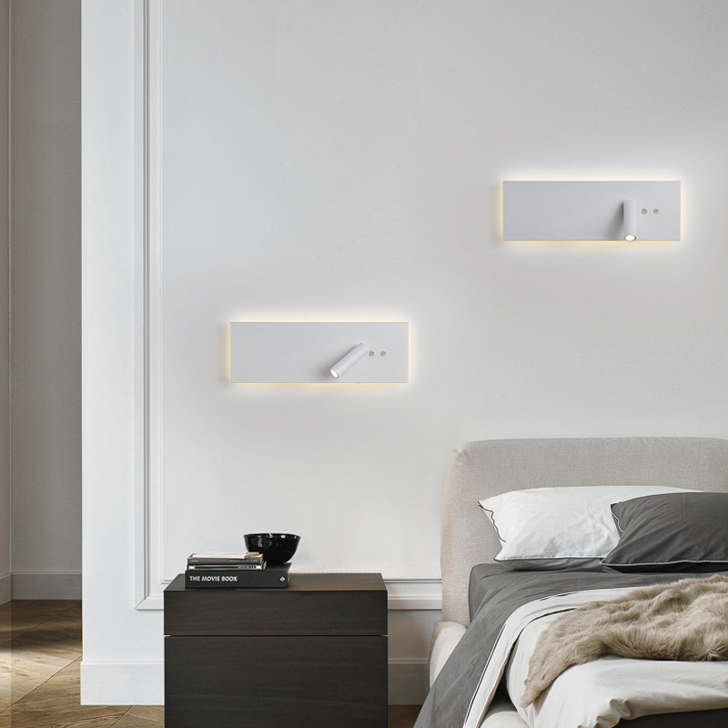EMZO New Simple Bedroom Bedside Wall Lighting Room Living Room Corridor Hotel Wall with Switch Spotlight Reading LampsEMZO New Simple Bedroom Bedside Wall Lighting Room Living Room Corridor Hotel Wall with Switch Spotlight Reading Lamps