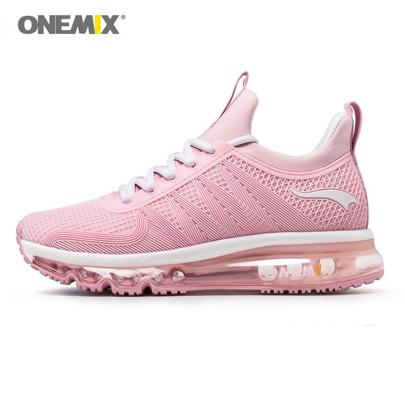 ONEMIX 2018 высокой воздушной подушке кроссовки для женщин спортивная обувь свет Фитнес Открытый Бег кроссовки Бесплатная доставка 1191 Вт