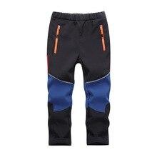 Marca impermeável à prova de vento meninos meninas calças quentes calças esportivas calças de escalada crianças roupas de casca macia 5 16 anos de idade