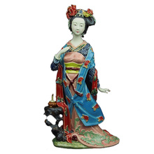Classical Ladies Diao Chan Porcelain Crafts Art Gift Ornaments Home Furnishings Collection Fine Ceramic
