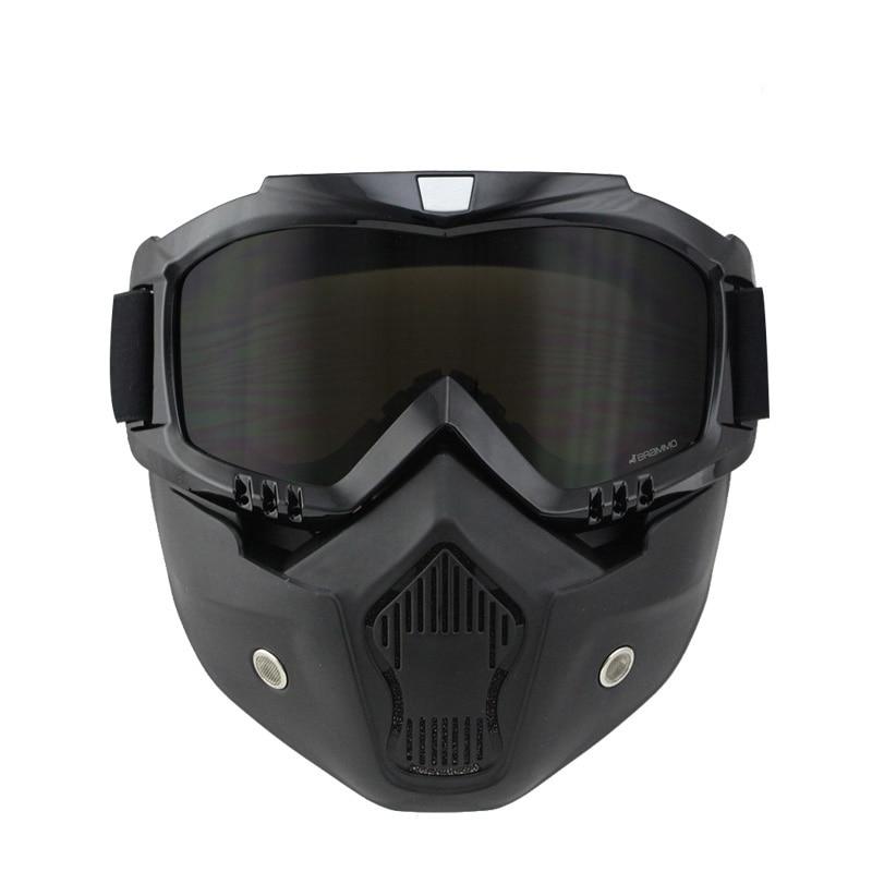 NYHET Dammsäker motorcykelhjälm Mask retro vintage mask med - Motorcykel tillbehör och delar - Foto 2