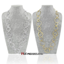 цены на Free Shipping Min Order $10 (Mix Order) Hot New Arrival Fashion Women Shiny Big Hoop Long Chain Statement Necklaces Jewelry  в интернет-магазинах