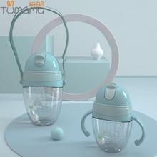 Детские бутылочки для кормления Tumama, с 2 функциями, младенческая бутылка для молока и воды, поилка-непроливайка с мягким носиком, тренировочная бутылка для новорожденных