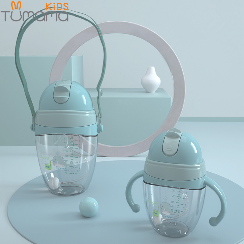 Tumama Baby Feeding Bottles Cups 2 Use Kids Water Milk Bottle Soft Mouth Duckbill Sippy Infant Drink Training Feeding Bottle