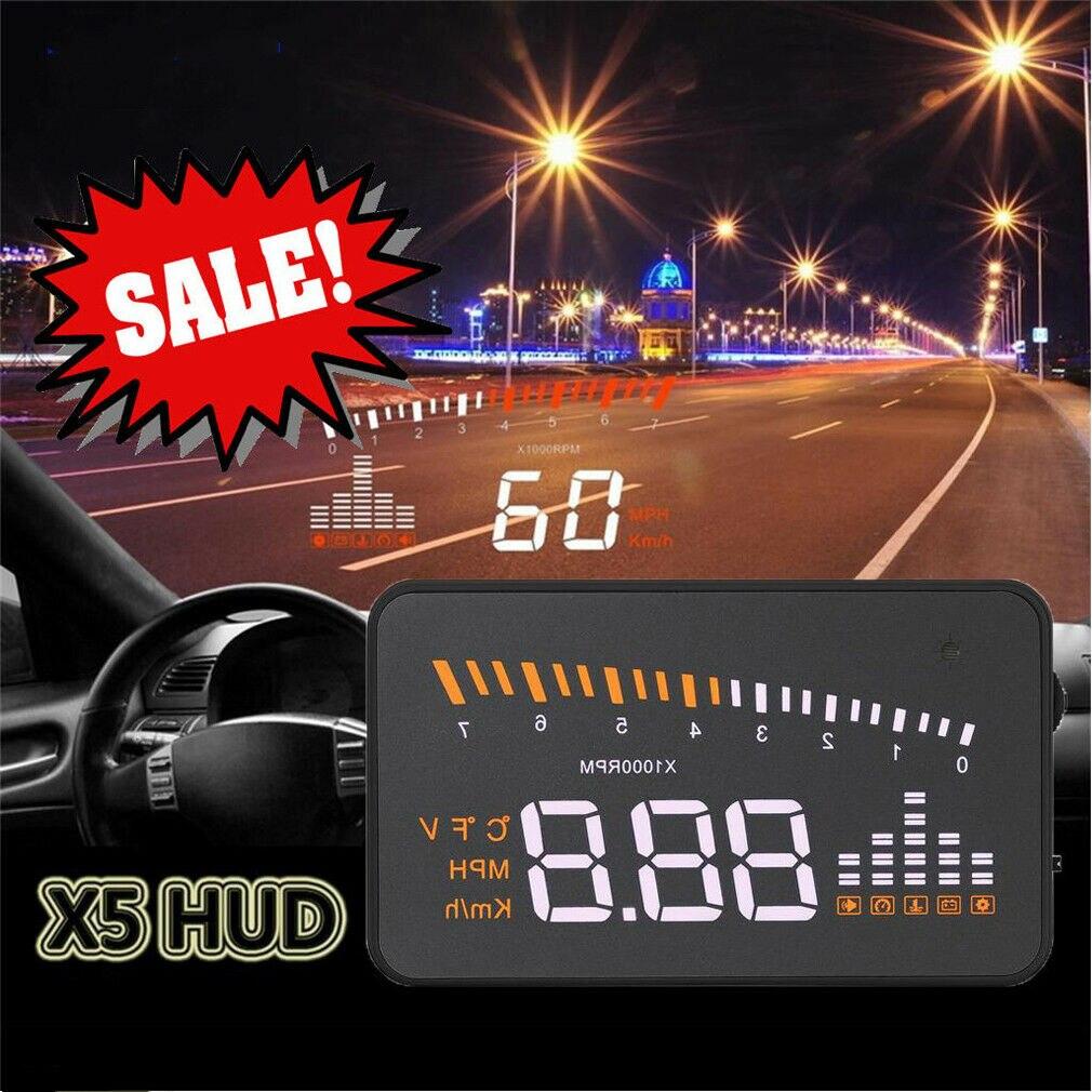 2019 New Universal Car GPS HUD Digital Head Up Display Car Speedometer Speed Warning Alarm