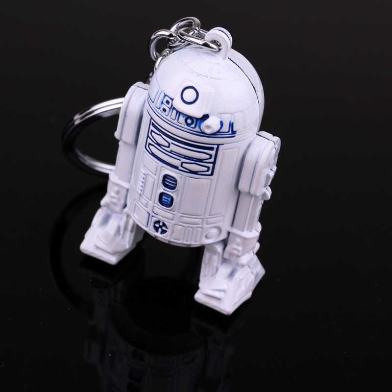 Star Wars 3D фигура робота R2D2 подвеска брелок цепочка для ключей унисекс автомобиль брелки для ключей chaveiro аксессуары и украшения