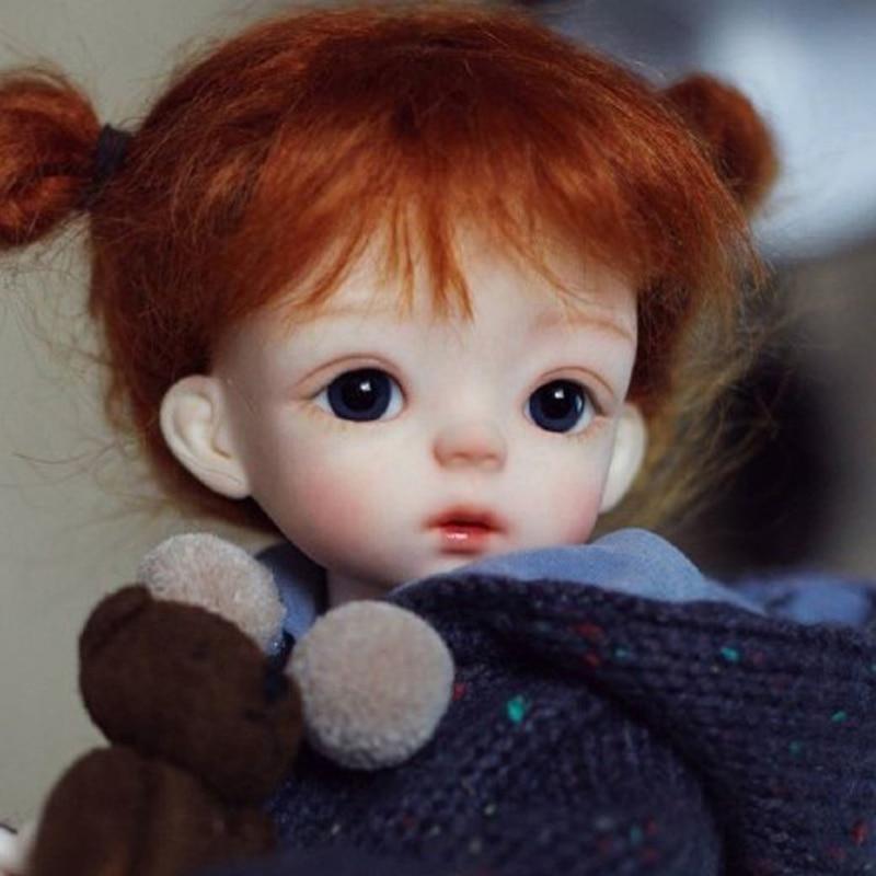 Livraison gratuite 1/6 BJD poupée BJD/SD mignon belle poupée SOO avec des yeux en verre pour bébé filles cadeau d'anniversaire-in Poupées from Jeux et loisirs    1